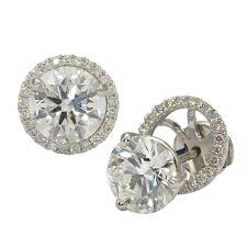 diamond earring jackets halo earring jackets for diamond studs wixon jewelers
