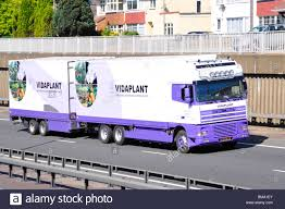 Plant Delivery Dutch Vidaplant Plant Delivery Lorry And Trailer On A12 Dual Stock