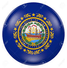 Th Flag 3d Rendering Of New Hampshire State Flag On A Button Stock Photo