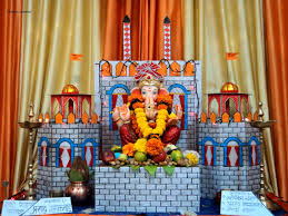 Home Ganpati Decoration Ganpati Decoration Ideas At Home Ganesh Pooja Decoration