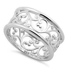 band ring sterling silver vines band ring for sale sterling silver rings
