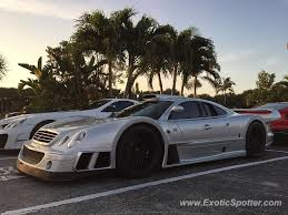 mercedes palm mercedes clk gtr spotted in palm florida on 01 26 2017