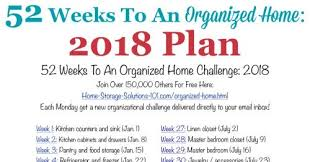 printable calendar home organization 52 weeks to an organized home join the weekly challenges