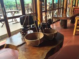 rustic decor in restaurant picture of phong nha lake house