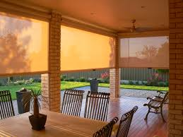 Cheap Outdoor Blinds Online Cheap Decorative Bali Shades With Cozy White Armchair For Elegant