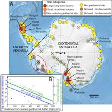 Oregon Volcano Map by Volcanoes And Other Geothermal Sites In Antarctica By Bas Map