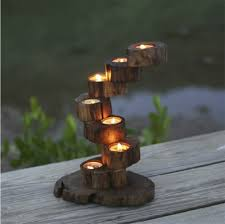 Handmade Wooden Gifts - candlestick exclusive debut 360love precious teak wood furnishings