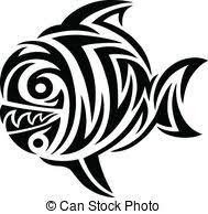 tribal fish vector vector clip search illustration