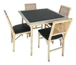 Stakmore Folding Chairs Vintage Stakmore Faux Bamboo Foldable Vintage Game Table U0026 Chairs Chairish