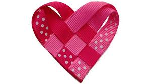 heart ribbon how to make a ribbon woven heart s day hair clip