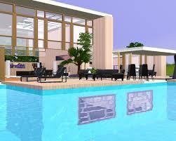 mod the sims modern pool house