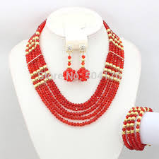 crystal design necklace images Smart bride jewelry set brand set indian beads crystal jewelry set jpg