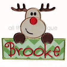 christmas applique reindeer sign applique christmas applique designs 3 sizes