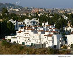 white spanish houses stock picture i1809817 at featurepics