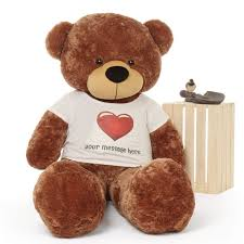 engraved teddy bears 5ft size personalized teddy cuddles in heart shirt