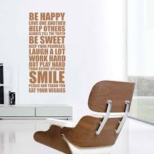 be happy wall sticker happy house rules wall decor