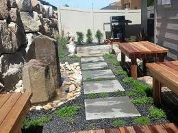 gabion wall foothills backyard stack rock group landscape