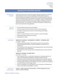 Resume For Engineers Aerospace Engineer Resume Resume For Your Job Application