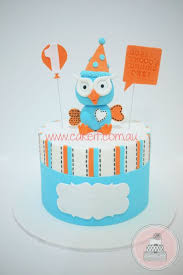 Giggle And Hoot Decorations Giggle And Hoot 1st Birthday Cake By Lydia Evans Cakesdecor