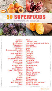 50 superfoods the ultimate shopping list superfoods shopping