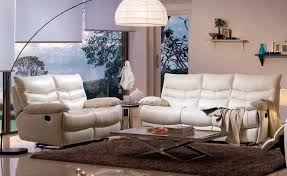 Recliner Leather Sofa Set Outstanding White Leather Recliner Sofa Set Best