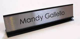 Metal Office Desk Office Desk Name Plates Custom Metal Office Signs Desk Signs