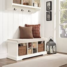 White Wood Storage Bench Harper Blvd Lima White Entryway Storage Bench Free Shipping