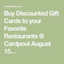 where to buy discounted gift cards buy discounted gift cards to your favorite restaurants cardpool