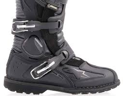blue dirt bike boots alpinestars toucan gore tex motorcycle boots with gtx