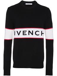 givenchy sweater givenchy logo stripe wool sweater black modesens