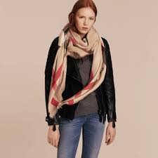 large lightweight check silk modal wool square scarf in camel