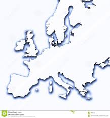 Europe Outline Map by Europe Outline Map With Shadow Royalty Free Stock Image Image