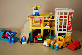 Fisher Price Doll House Furniture Vintage Fisher Price Little People 930 Parking Ramp Service Center