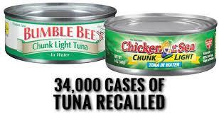 bumble bee chunk light tuna chicken of the sea and bumble bee canned tuna recall
