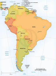 south america map aruba vector map of south america political for of