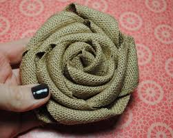 burlap flowers stin up burlap ribbon burlap rolled flower tutorial