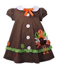 gerson gerson turkey button front smock dress infant zulily