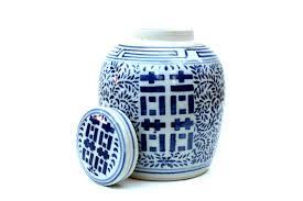 Ginger Jar Vase Large Blue And White Ginger Jar My Web Value