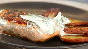 salmon with potatoes and horseradish sauce recipe cooking light