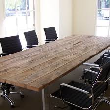 Grey Meeting Table Reclaimed Wood Conference Table Bonners Furniture