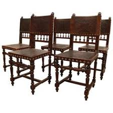 Spanish Colonial Dining Chairs Great Set Of 4 Spanish Colonial Dining Chairs With The Original