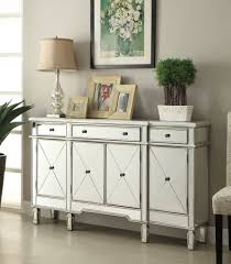 Contemporary Hallway Furniture by 60 Inch Mirrore Relection Andrea Hall Console Dh 695 Silver