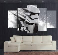 print stormtrooper star wars movie modular paintings on the wall