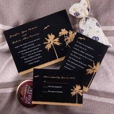 and black wedding invitations black and gold palm tree wedding invites ewi149 as low as