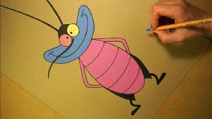 drawing joey cartoon character oggy cockroaches soft