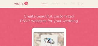 Wedding Rsvp Websites Vanilla Rsvp Website Has A Great Web Design Best Web Designs