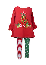 bonnie jean christmas tree tunic u0026 leggings set infant baby girls