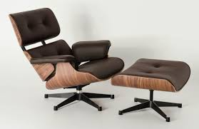 Reupholster Leather Chair Eames Lounge Chair U0026 Ottoman Brown Walnut Mid Century Modern
