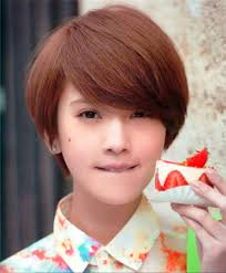 pictures of cute short korean bob haircut with bangs
