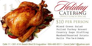catering for the holidays in st augustine